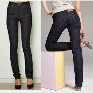Acne Jeans Hep Raw Blue Straight Leg Jeans